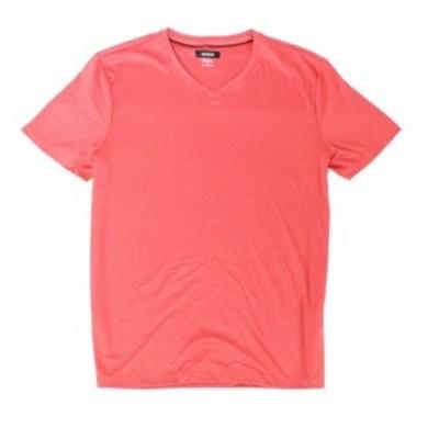 Apple  ファッション トップス INC Mens T-Shirt Baked Apple Red Large L V Neck Stretch Short-Sleeve