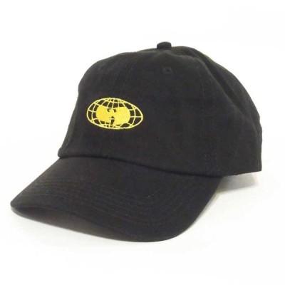 WU-WEAR ウ−ウェア GLOBE LOGO STRAPBACK LO CAP グローブ ロゴ ストラップバック ロー キャップ ウータン メンズ ブラック  WW027