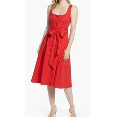 1901 ワンナインオーワン ファッション ドレス 1901 NORDSTROM Womens Red Size 10P Petite Buttoned Sheath Dress
