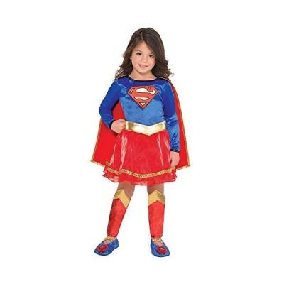 Suit Yourself クラシック スーパーガール ハロウィン コスチューム 幼児 女の子 DCスーパーマン ファミリー 3-4T アクセサリー付