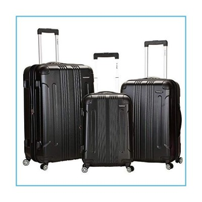 Rockland London Hardside Spinner Wheel Luggage, Black, 3-Piece Set (20/24/28)並行輸入品