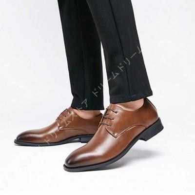 ビジネスシューズ メンズ オックスフォードシューズ ドレスシューズ 革靴 紳士靴 通勤靴 幅広 外羽根式 軽量 通気 クッション性 防滑 防臭 防菌 大きいサイズ