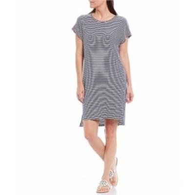 トッミーバハマ レディース ワンピース トップス Cassia Stripe Short Sleeve T-Shirt Dress Island Navy