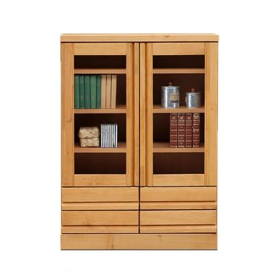 アルダー材のコンパクト本棚