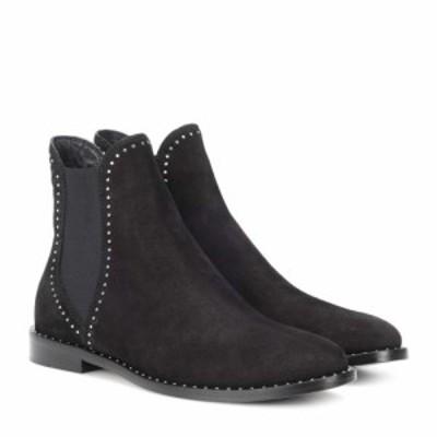 ジミー チュウ Jimmy Choo レディース ブーツ ショートブーツ シューズ・靴 Merril suede ankle boots Black/Silver