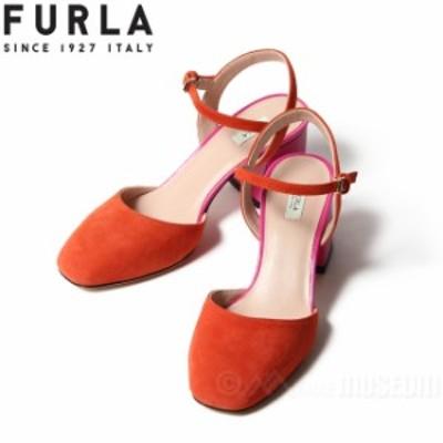 フルラ FURLA サンダル レディース スリングバック ジョイア GIOIA レザー スエード バックスキン オレンジ ORANGE イタリア製