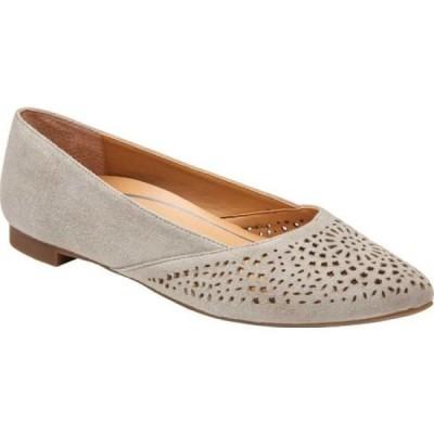 バイオニック Vionic レディース スリッポン・フラット バレエシューズ シューズ・靴 Carmela Perforated Ballet Flat Dark Taupe Suede