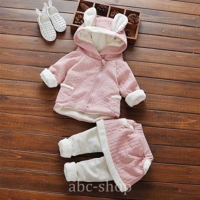 韓国子供服トップスパンツ上下セットベビー女の子baby70cm80cm90cm100cmピンクブルー全2色