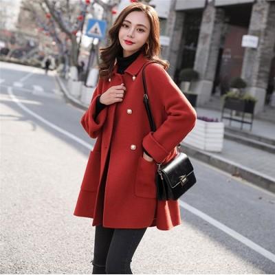 [55555SHOP]◆送料無料◆🌸新作の特別セール 合わせやすい 女性らしい   ロング丈 ウールコート  秋冬人気新品   ウールコート も柔ら暖かい 快適 コート 高品質 アウター