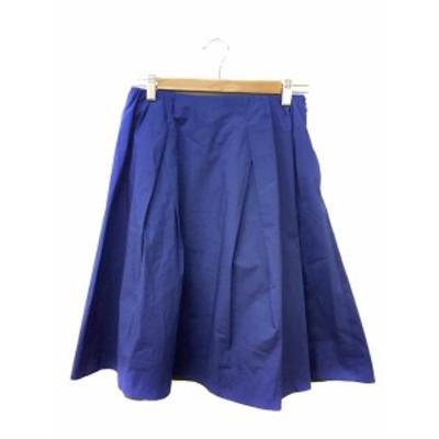 【中古】ガリャルダガランテ GALLARDAGALANTE スカート フレア タック 膝丈 1 青 ブルー レディース