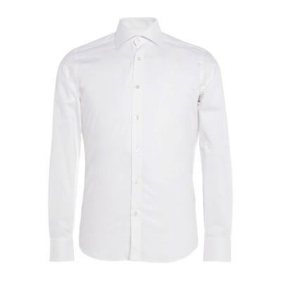 STEFANO VALLE シャツ ホワイト 37 コットン 97% / ポリウレタン 3% シャツ