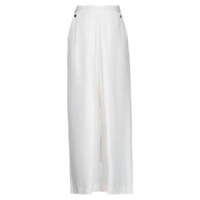 PENNYBLACK パンツ ホワイト 38 アセテート 62% / レーヨン 38% パンツ