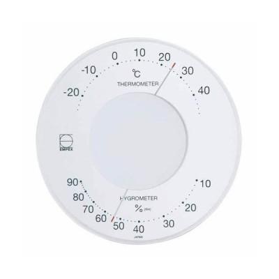 EMPEX 温度・湿度計 セレナ 温度・湿度計 壁掛用 LV-4303 ホワイト