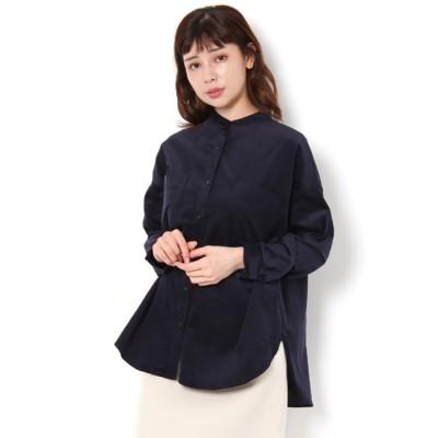 【テチチ/Te chichi】 ノーカラーシャツ LS
