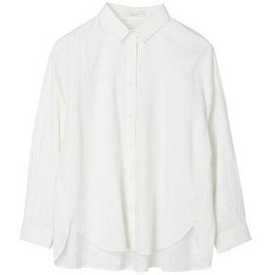 グリーンパークス Green Parks 2way 襟付きシャツ (Off White)