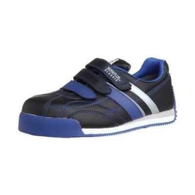 ミドリ安全 安全作業靴 JSAA認定 マジックタイプ プロスニーカー WPC555 メンズ ブラック/ブルー 26.0(26cm)