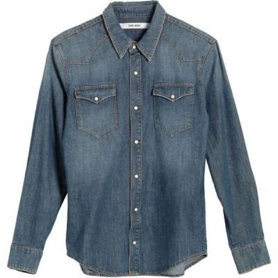 2W2M メンズ シャツ デニム トップス Denim Shirt Blue