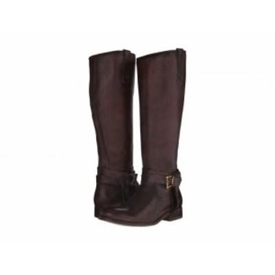 Frye フライ レディース 女性用 シューズ 靴 ブーツ ロングブーツ Melissa Knotted Tall Dark Brown Polished Stonewash【送料無料】