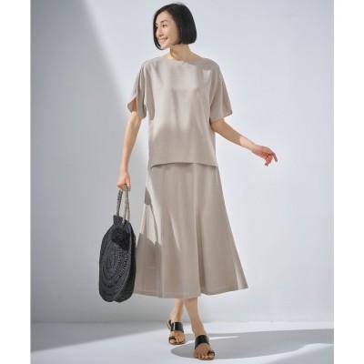 自由区 【イージーケア/セットアップ対応】サマーセットアップ スカート (ベージュ)