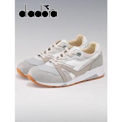 スニーカー sneaker メンズ Men's おしゃれ ブランド 40代 ディアドラ ヘリテージ Diadora Heritage N9000 H ITA ベージュ&グレー&ホワイト