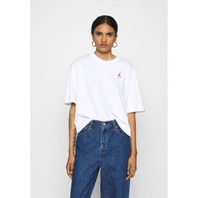 ジョーダン レディース Tシャツ トップス ESSENTIAL BOXY TEE - Print T-shirt - white white