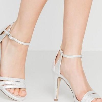 メンブル レディース サンダル High heeled sandals - silver