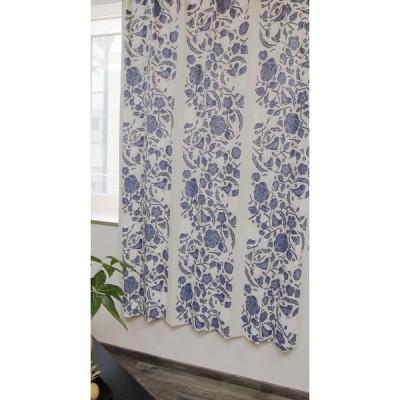 スミノエスミノエ デザインライフ 遮光カーテン クコ 幅1000×長さ1350mm ブルー V1305 1枚(直送品)