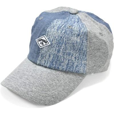 [クリサンドラ] 帽子 キャップ メンズ ローキャップ ブランド 男女兼用 レディース 6パネル CAP フリーサイズ カジュアル パッチワーク デザ