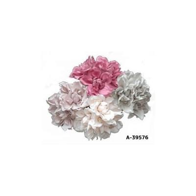 【造花 ダリア】A-39576 ダリアバンチ 1束3本組全長約18cm 花径約8cmシックな色合いのダリア*