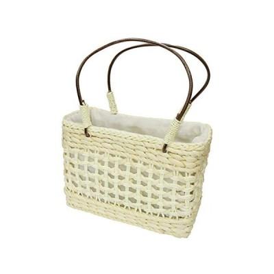 花飾璃 竹籠巾着バッグ
