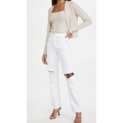 リダン RE/DONE レディース ジーンズ・デニム ボトムス・パンツ 90s High Rise Loose Jeans White With Rips