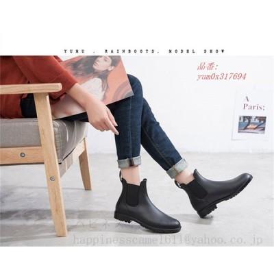 レインブーツ レディース 梅雨対策 ショートブーツ 雨靴 防水 女性 短靴 スニーカー 防水ブーツ可愛いおしゃれ 滑りにくい レインシューズ