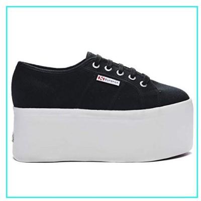 Superga Womens 2808 COTW Flatform Platform Fashion Black Sneaker - Black Lochness - 10.5