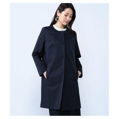 【大きいサイズ】 ALPHA CUBIC ノーカラーコート コート, plus size coat