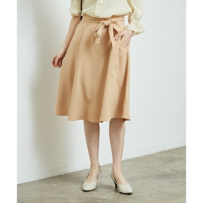 スカート リボン付きフレアスカート