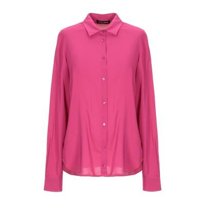 EUROPEAN CULTURE シャツ フューシャ M レーヨン 97% / ポリウレタン 3% シャツ