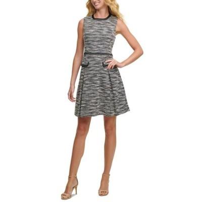 トミー ヒルフィガー レディース ワンピース トップス Tweed Fit & Flare Dress