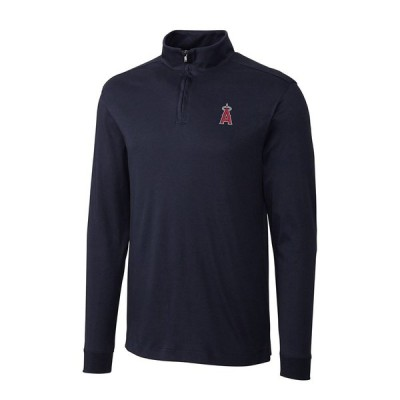 ロサンゼルス・エンゼルス Cutter & Buck Belfair Half-Zip Pullover ジャケット - Navy