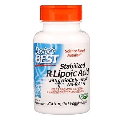 生体的に強化されたNa-RALA配合安定化R-リポ酸、200 mg、60ベジカプセル