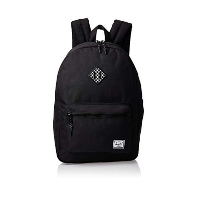 Herschel Kid's Heritage Backpack, Black/Checkerboard Rubber, Youth X-Large 22L 並行輸入品