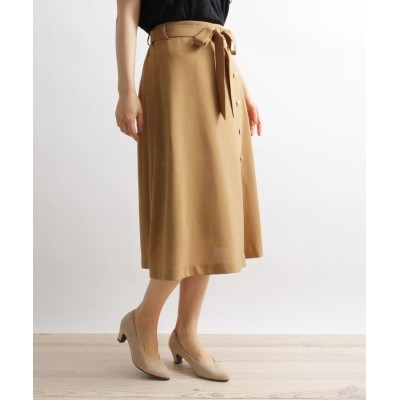 grove(グローブ) 麻調金釦使い共ベルト付きスカート