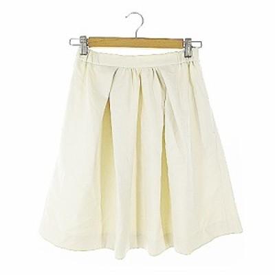 【中古】アーバンリサーチ URBAN RESEARCH スカート ギャザー ひざ丈 F アイボリー /AAM19 レディース