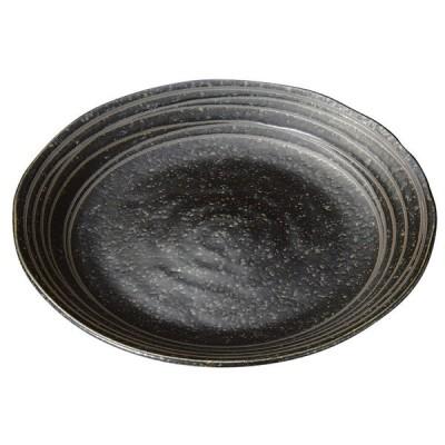 和食 中皿 / 黒イラボらいん7.5皿 寸法: 24 x 2.5cm 530g