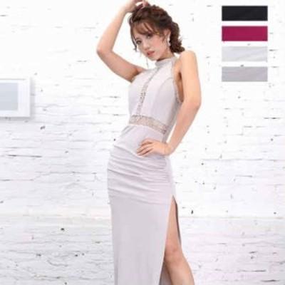 キャバドレス キャバ ロング ドレス キャバクラドレス Jewel ジュエル スリット レース ロングドレス