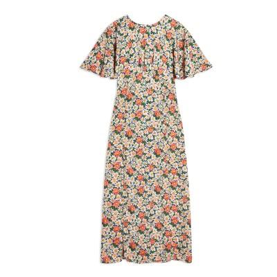 トップショップ TOPSHOP ロングワンピース&ドレス ブルー 6 ポリエステル 100% ロングワンピース&ドレス