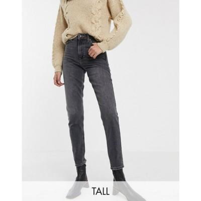 トップショップ Topshop Tall レディース ジーンズ・デニム ボトムス・パンツ mom jeans in washed black ブラック