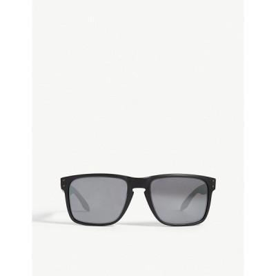 オークリー OAKLEY メンズ メガネ・サングラス スクエアフレーム Holbrook XL O-Matter polarised square-frame sunglasses BLACK