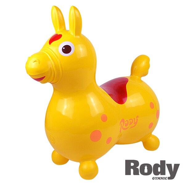 義大利 Rody 跳跳馬/騎乘玩具-基本色(黃)【淘氣寶寶】可另加購打氣筒/四輪滑板/搖板