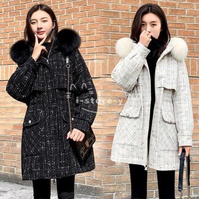ダウンコート レディース 冬 40代 新品 ダウンコート Aラインコート厚手オーバー 暖かい ミディアム丈ジャケットフード連れ アウター 防寒防風 大人可愛い