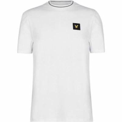 ライル アンド スコット Lyle and Scott Casual メンズ Tシャツ トップス Patch Logo T-Shirt White